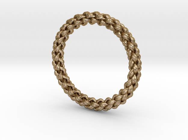 6-strand Round Braid Ring 3d printed