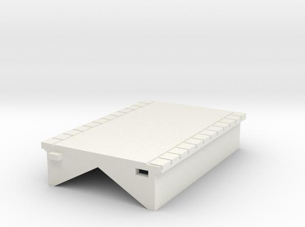 T Gauge Perrondeel 30 mm (1:450) in White Natural Versatile Plastic