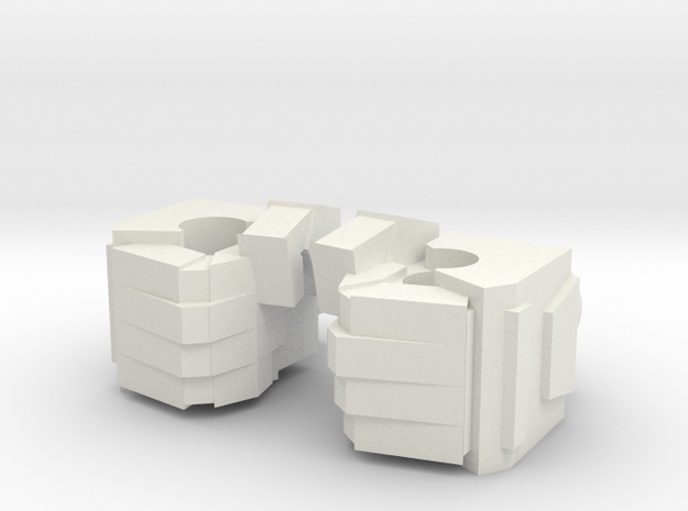 Voyager Fists in White Natural Versatile Plastic