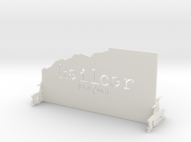 Railcar Stand in White Natural Versatile Plastic