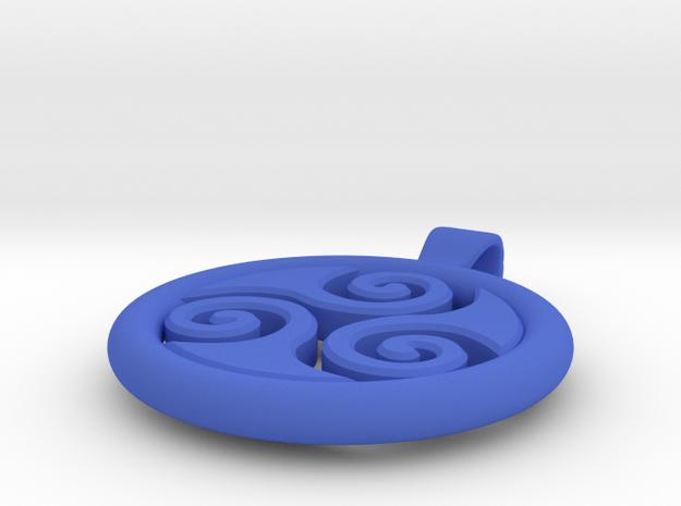 Big Triskell Negative Hole Pendant 3d printed