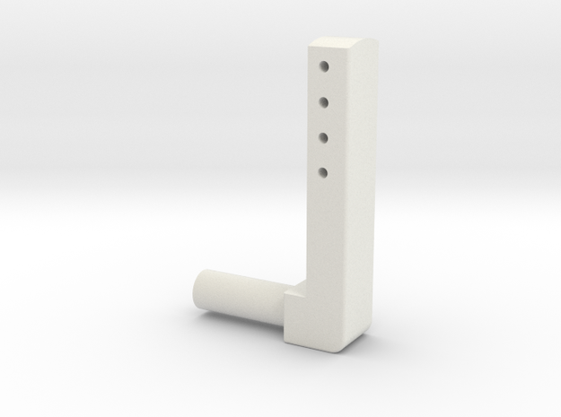 BMGimbal Tiltbar Connector in White Natural Versatile Plastic