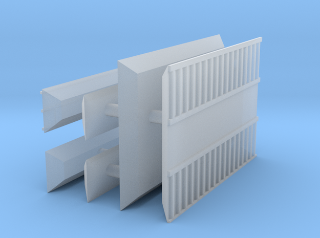 1/600 Shipping Container Stack of 3 in Smooth Fine Detail Plastic