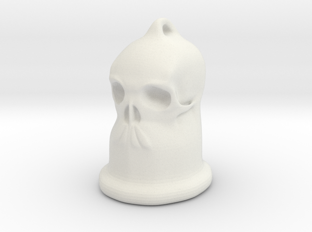Skull Bell Pendent 3d printed