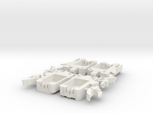 Tyrant Arms in White Natural Versatile Plastic