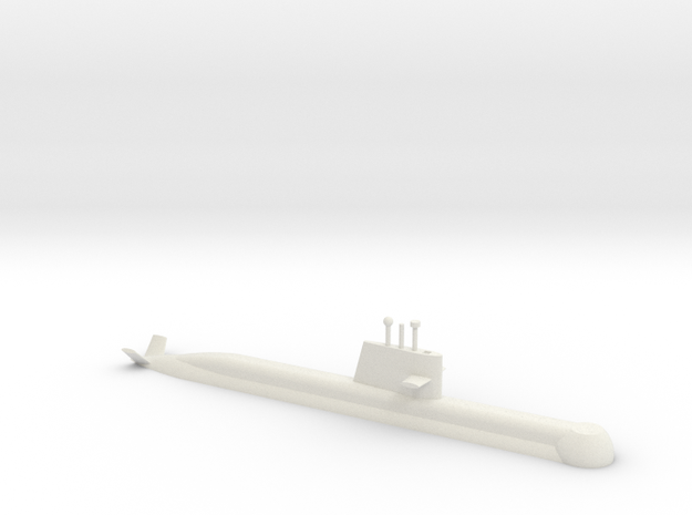 1/700 Collins Class Submarine (Waterline) in White Natural Versatile Plastic