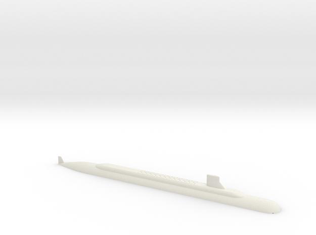 1/700 SSBN-X Class Submarine (Waterline) in White Natural Versatile Plastic