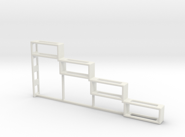Spice Rack Bracket in White Natural Versatile Plastic