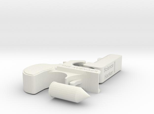 Deringer Pistol The Avenger 1:2 Scale with Bullet in White Strong & Flexible