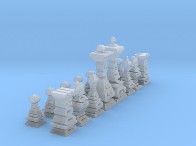 Mini Typographical Chess Set