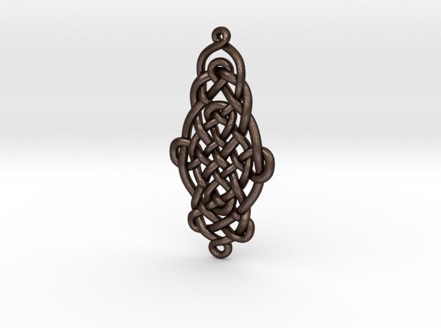 Raindrop Celtic Knot Pendant 40mm 3d printed