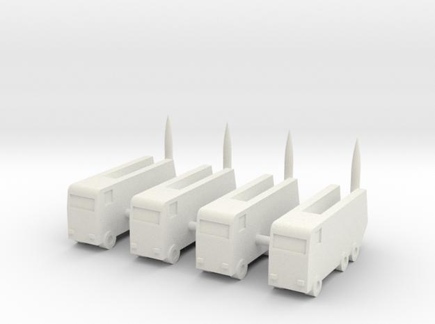 1/350 North Korean KN-2 Toksa (x4) in White Natural Versatile Plastic