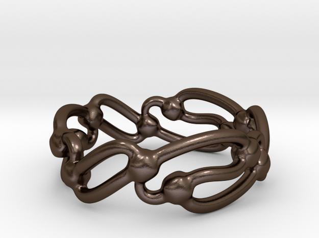 Rolling Wavez Ring  3d printed