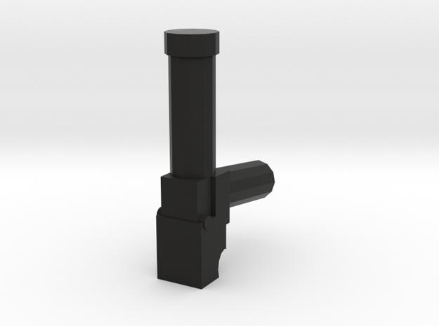 Pistol-001 in Black Natural Versatile Plastic