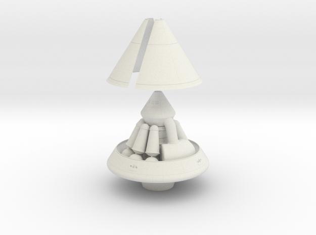 1/72 MARS EXCURSION MODULE W/ SHROUD & RETRO PACK in White Natural Versatile Plastic
