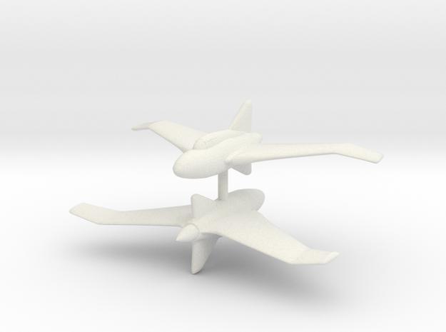 1/300 Northrop XP56 Black Bullet (x2) in White Natural Versatile Plastic