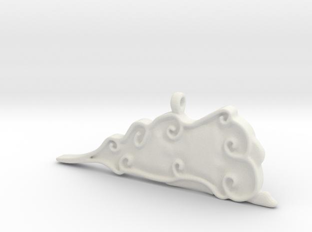 Cloud Pendent in White Natural Versatile Plastic