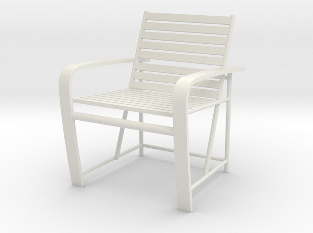 1:24 Metal Beach Chair (Not Full Scale) 3d printed