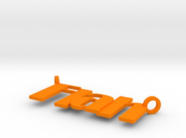 Flah in Orange Processed Versatile Plastic