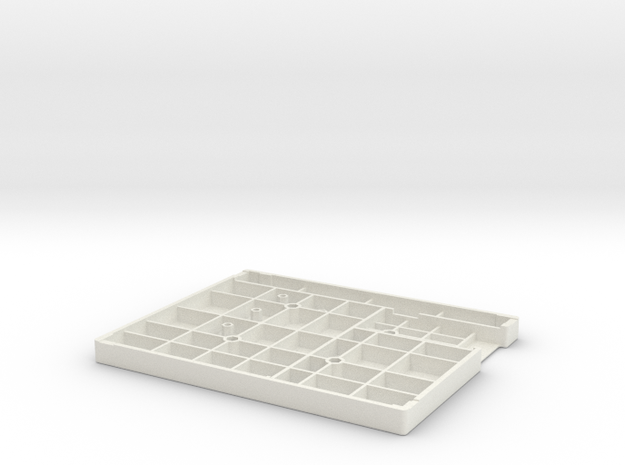 FLAT TYPE WITH VESA NUT HOLE in White Natural Versatile Plastic