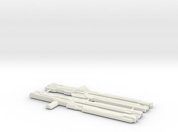 Railgun in White Natural Versatile Plastic