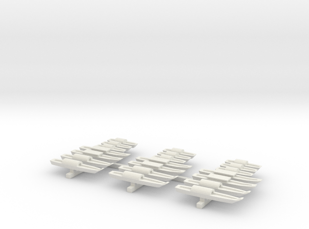 1/600 Vietnam Sampans in White Strong & Flexible