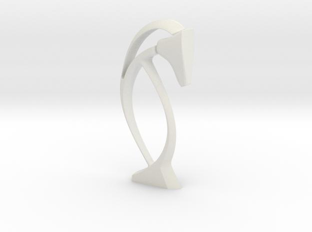 Fedora-7 in White Natural Versatile Plastic