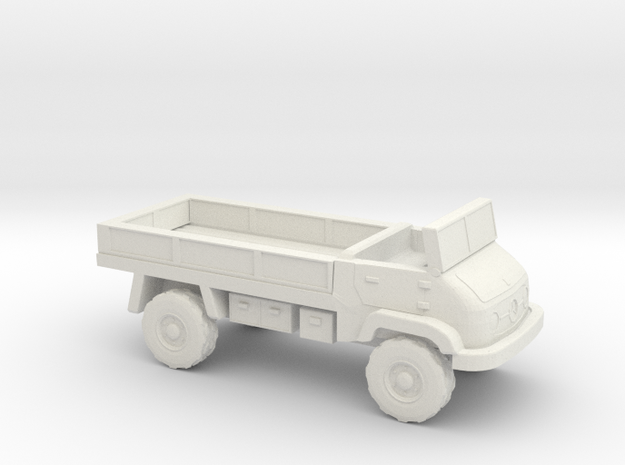 1:200 Unimog 404S Flatbed in White Natural Versatile Plastic