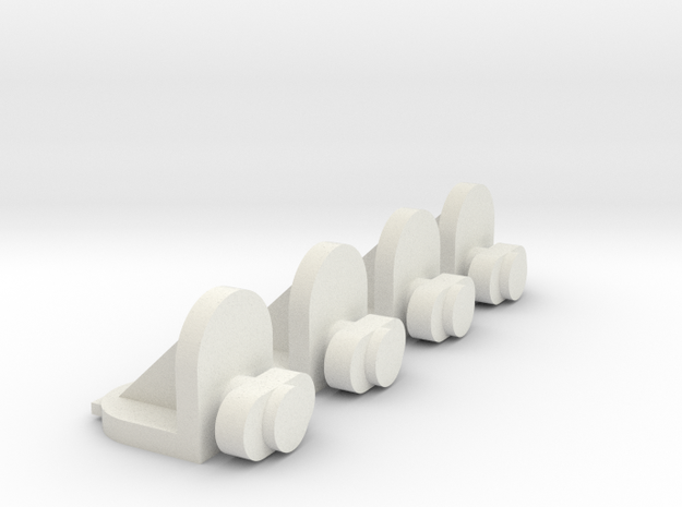 Twist-in Cabinet Replacement Shelf Pins, 4 Pack in White Natural Versatile Plastic