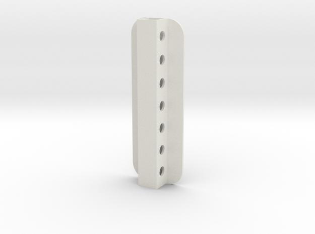 Stick Tail Mount in White Natural Versatile Plastic