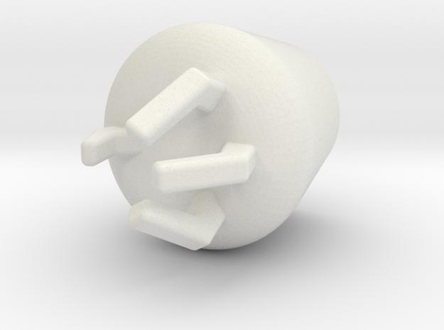 Hydroarm in White Natural Versatile Plastic