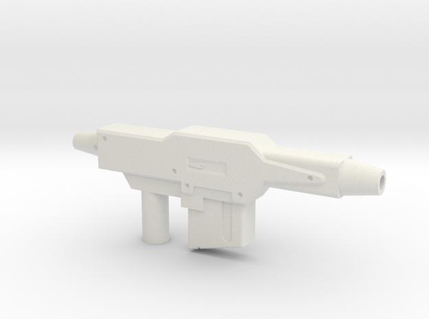 Gundam Gun in White Natural Versatile Plastic