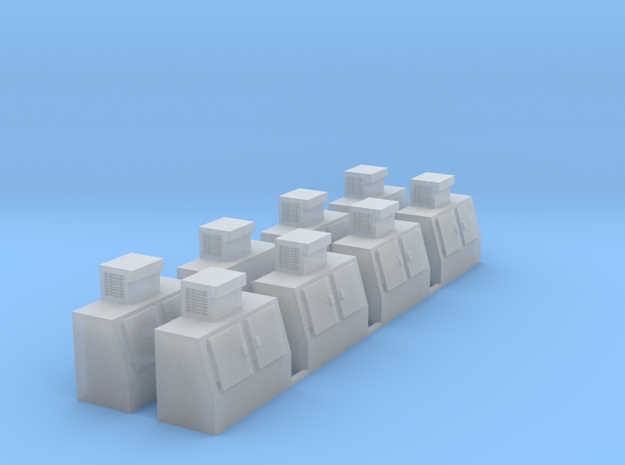 HO-Scale Slant Double Door Ice Cooler (8-Pack) 3d printed