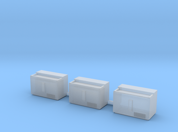 S-Scale 1950's Soda Cooler (3-Pack) 3d printed