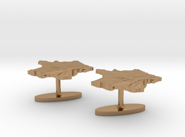 France Terrain Cufflink - Pair 3d printed