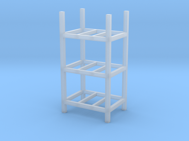 Steel Storage Racks 1-87 3 High in Smooth Fine Detail Plastic