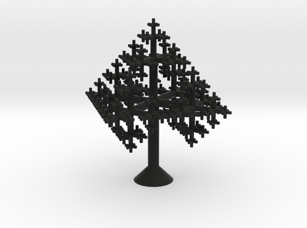 Tiny Octahedral Fractal Tree 3d printed