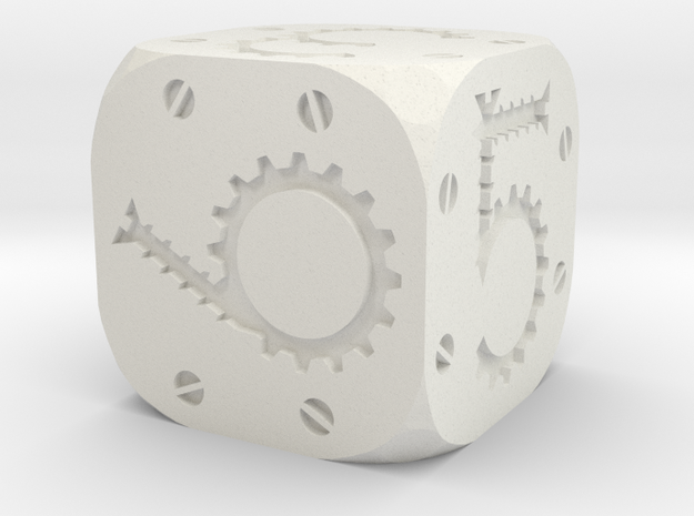 Tinker Die D6 Solid in White Natural Versatile Plastic