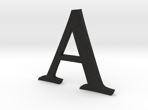 A (letters series) in Black Acrylic