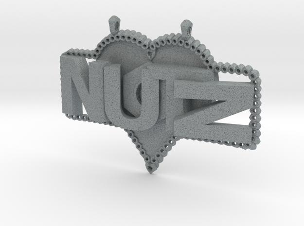 Nutz Plate 1 in Polished Metallic Plastic