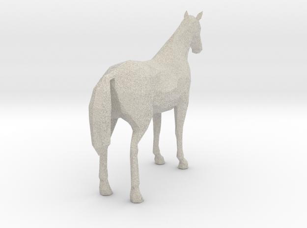 Horse Grey 3d printed