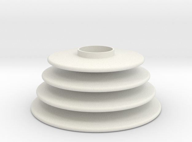 Translation Control Rubber 1:1 in White Natural Versatile Plastic