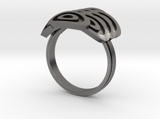 Japanese Fishscales Ring 3d printed