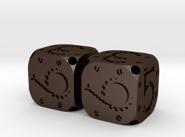 Tinker Dice Metal D6 Pair 3d printed