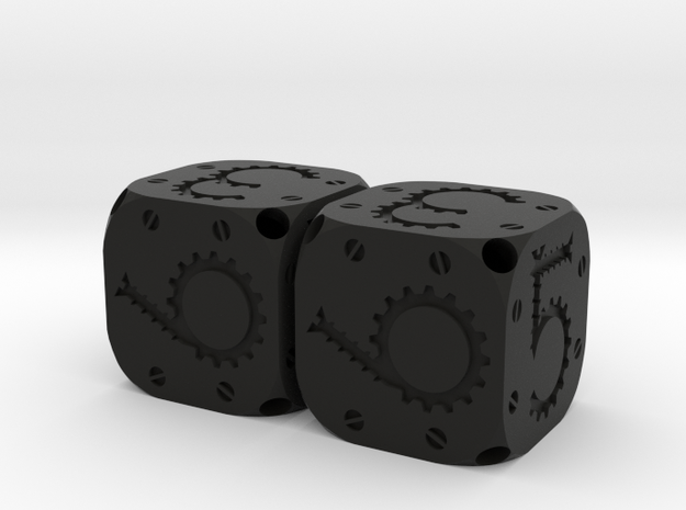 Tinker Dice Plastic D6 Pair  3d printed