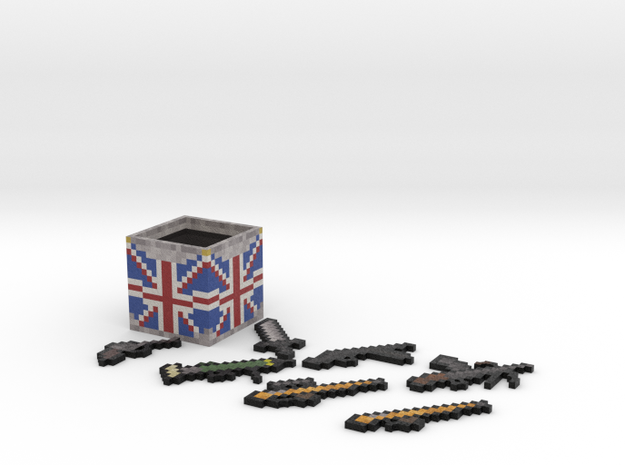 Flan's Mod British Guns and Weapon Box in Full Color Sandstone