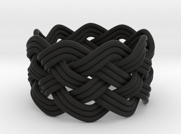 Turk's Head Knot Ring 5 Part X 9 Bight - Size 8 3d printed