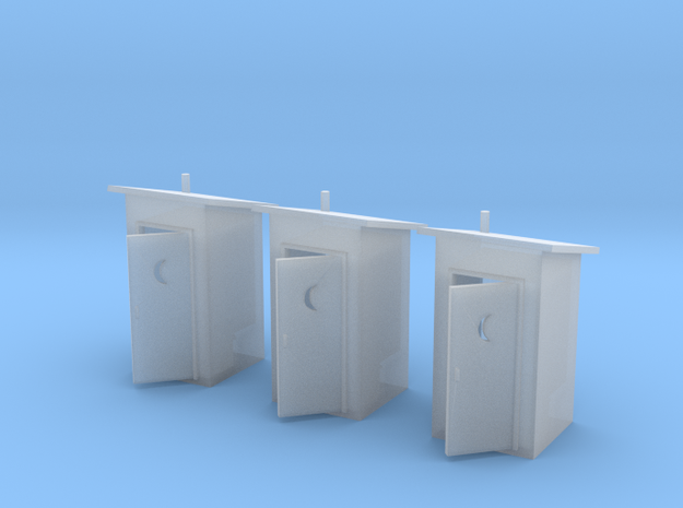 N-Scale Slant Roof Outhouse (3-Pack)