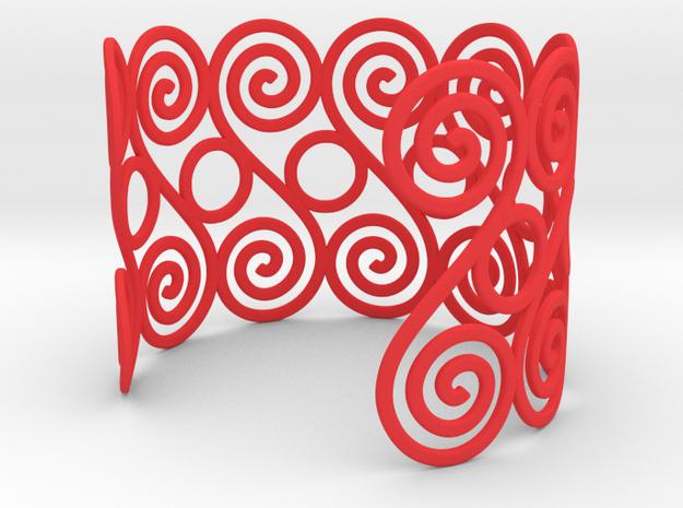 Spirals & Circles Bracelet 3d printed