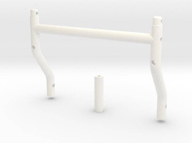 SR40012 Beach Buggy Body Mounts in White Processed Versatile Plastic